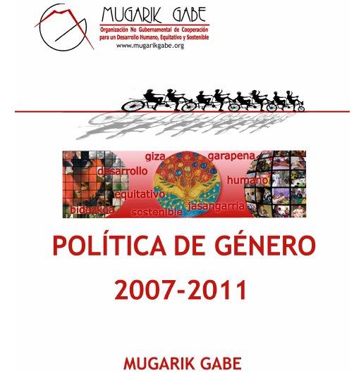 portada_Política_de_Genero_MG_2007-2011
